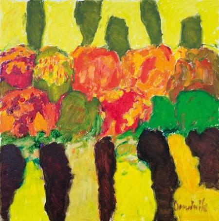 Jesień, obraz, olej, płótno