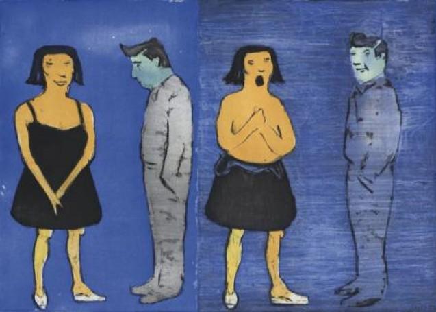Upss Obrazek wiktoriański, 2010, olej na płótnie
