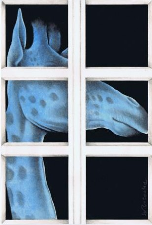 Żyrafa, 1987 r., Wiesław Rosocha