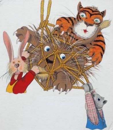 Lew iMysz, ilustracja książkowa