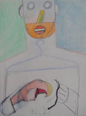 Self-portrait quarrelsome