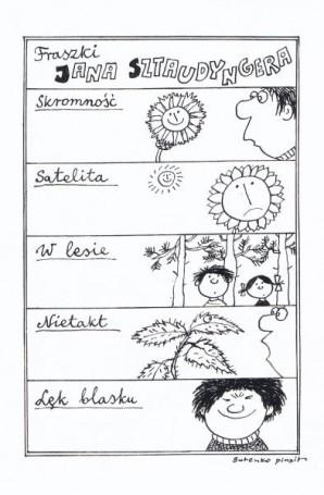 """""""Fraszki Jana Sztaudyngera"""", ilustracja zPłomyczka nr 17 str. 22"""