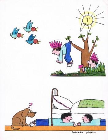 Bez tytułu, ilustracja zeŚwierszczyka nr 22 str. 13