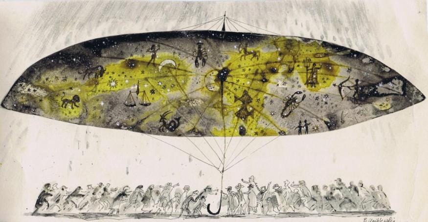 Illustration: Stars under the umbrella
