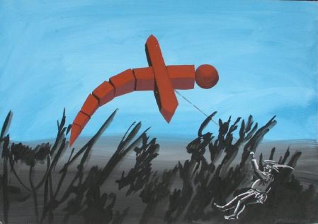 Troll with a kite, 2008