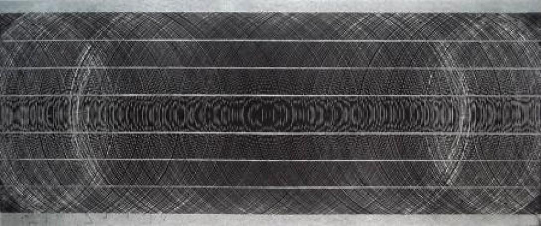 Bez tytułu, zcyklu abstrakyjnych kompozycji opartych na rytmie- dynamice istatyce, 2008 r.