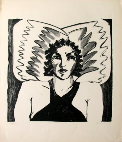 Grafika czarno-biała, 1979 r.