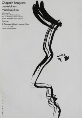 Chopinin hengessa puolalainen musiikkijuliste, plakaty zkolekcji Włodka Orła