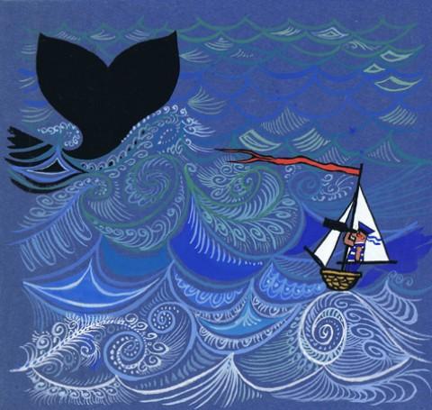 ilustracja Marynarz iwieloryb