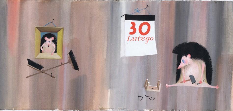 """""""30 lutego"""", ilustracja do książki Wandy Chotomskiej"""