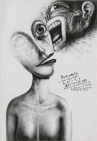 Podszepty iinne rysunki Leszka Żebrowskiego