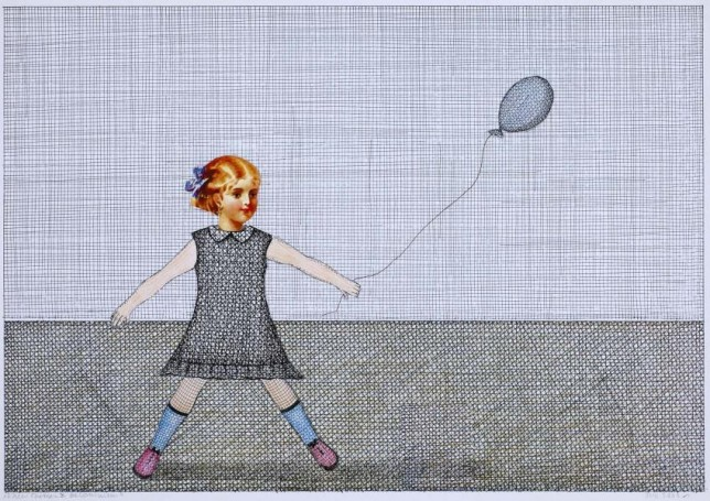 A girl with the balloon
