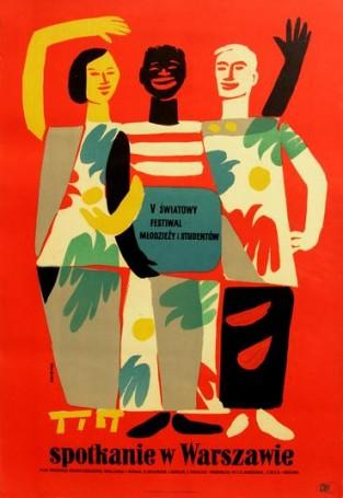 Spotkanie wWarszawie, 1955 r.