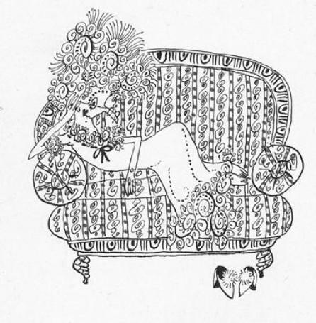 """Bez tytułu, około 1973r., ilustracja do książki: Stefana Garczyńskiego """"Błąd, źródła -unikanie"""""""