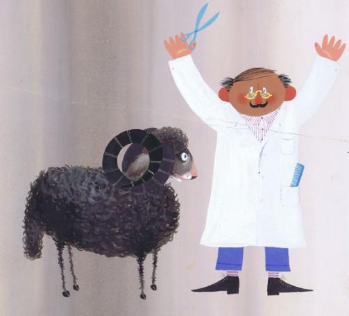 """""""Fryzjer"""", ilustracja do książki Wandy Chotomskiej"""