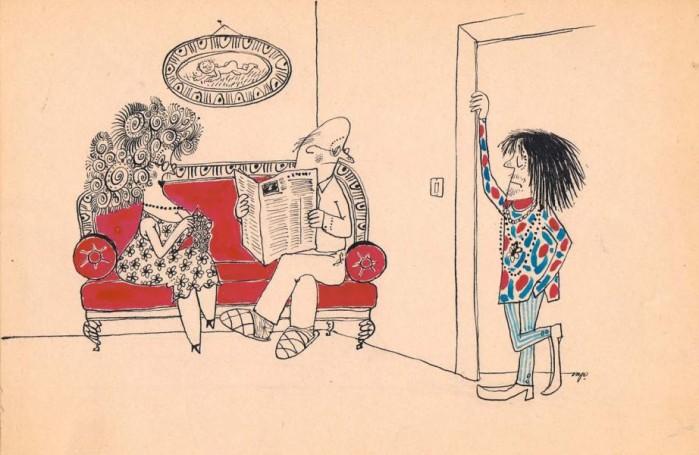 "Bez tytułu, ilustracja do czasopisma: ""Szpilki"""