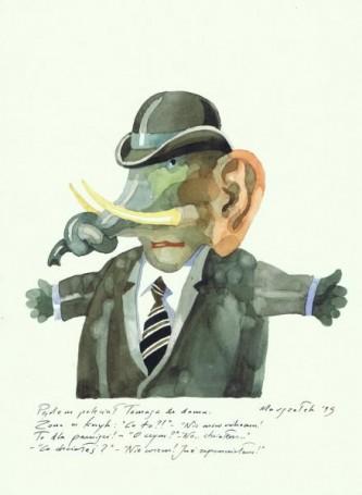 Ilustracja do Słoń Trąbalski, 1995 r.