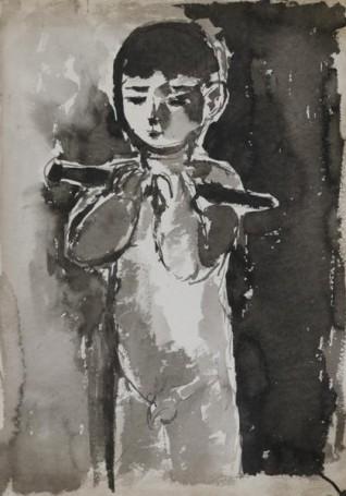 Chłopiec zfujarką