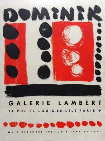 DOMINIK; Galerie Lambert, grudzień 1961- styczeń 1962