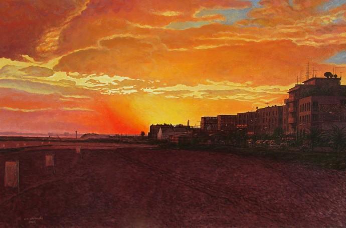 Algarve – Quarteria – zachód słońca, 2005 r.