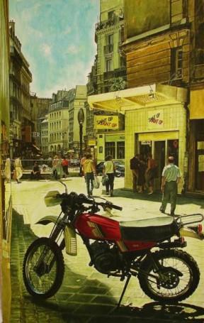 Paryż -Saint OP -Yamaha 125 DT