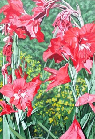 Dead and alive gladiolus, 2001