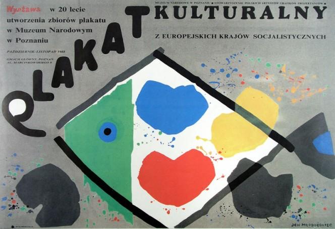 Plakat kulturalny zeuropejskich krajów socjalistycznych, 1988 r.