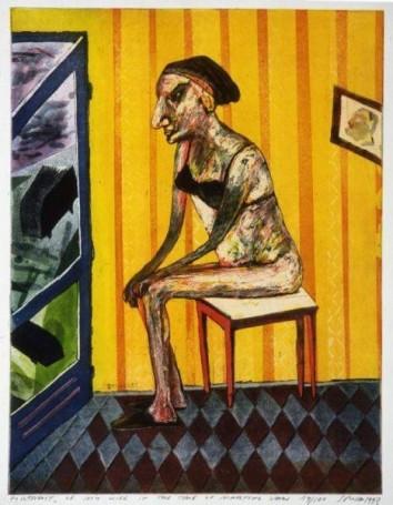 Portret żony wstanie wojennym, 1993 r.