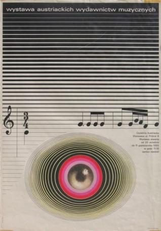 Wystawa austriackich wydawnictw muzycznych wCzytelni Austriackiej wWarszawie, 1969 r.