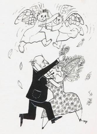 Mirosław Pokora, Rys. 2, ilustracja dla Wyd. 'Wiedza Powszechna, 100 Pomysłów Na Prezent 500 -2000 zł