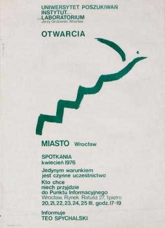 Otwarcia, Miasto Wrocław, 1970 r. -afisz