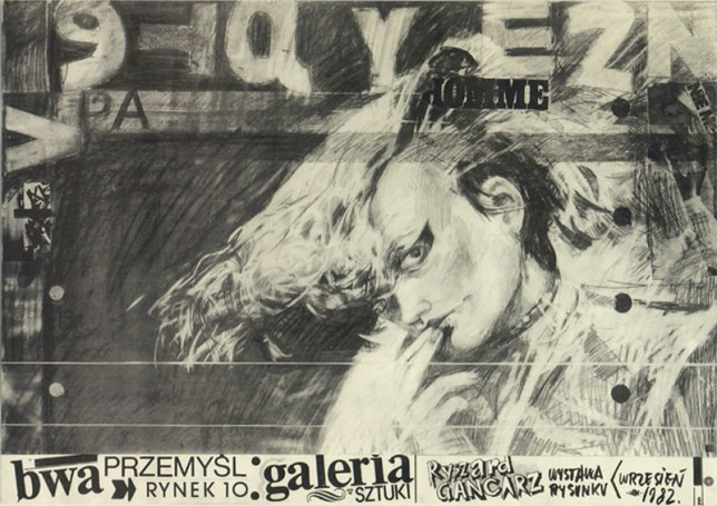 Ryszard Gancarz drawing exhibition, 1982