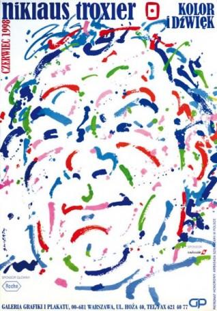W. Świerzy, Niklaus Troxler. Kolor idźwięk, WYSTAWA, 1998 r., WARSAW BY ART 22-24.09.2017 r. Plakat za 10 zł