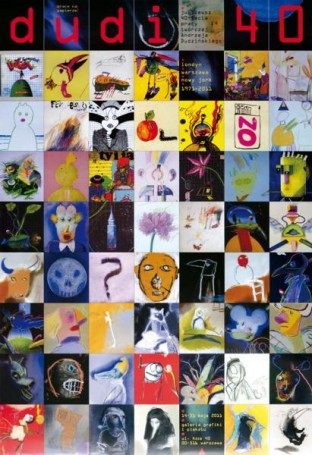 Dudi 40 -wystawa Galeria Grafiki iPlakatu, WARSAW BY ART 22-24.09.2017 r. Plakat za 10 zł