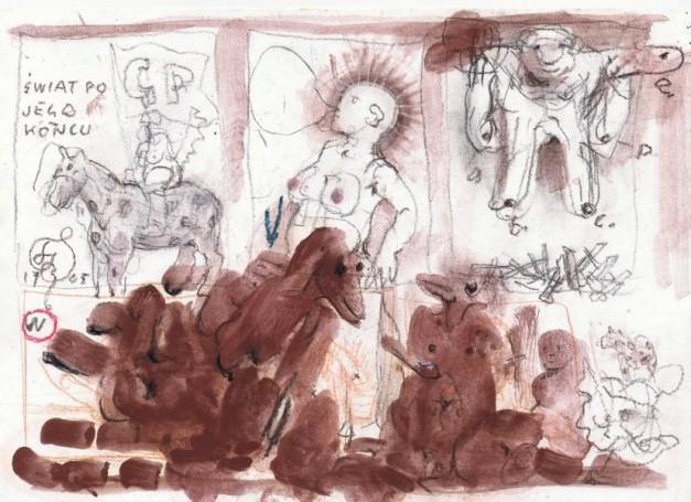 Franciszek Starowieyski, The world after its ending, 2005