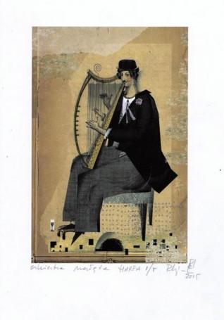 """Harfa, zcyklu """"ORKIESTRA NADĘTA"""", Ryszard Kaja"""