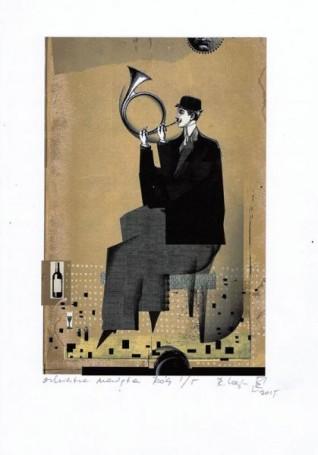 "Róg, zcyklu ""ORKIESTRA NADĘTA"", Ryszard Kaja"
