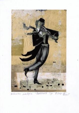 """Skrzypce, zcyklu """"ORKIESTRA NADĘTA"""", Ryszard Kaja"""