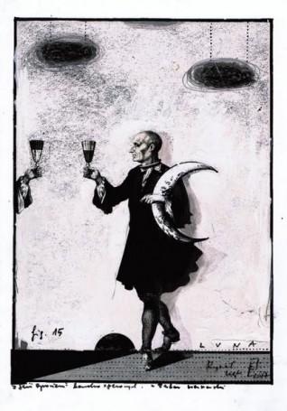 """Ryszard Kaja, Luna, zcyklu """"Opowieści bardzo operowych"""", Fig. 15, (zestaw warszawski), 100 Pomysłów Na Prezent 500 -2000 zł"""