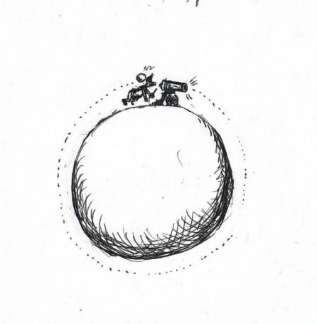 Jacek Gawłowski, Bez tytułau (Kula), rysunek satyryczny