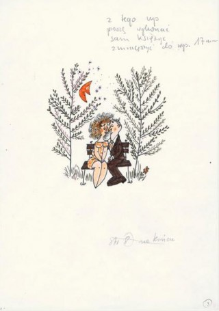 Miroslaw Pokora, No title (a couple on a bench), illustration