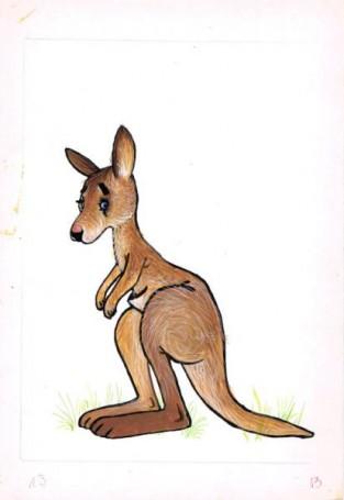 """Kangur, """"Zwierzęta Pana Brzechwy"""" ilustracja do książki Jana Brzechwy"""