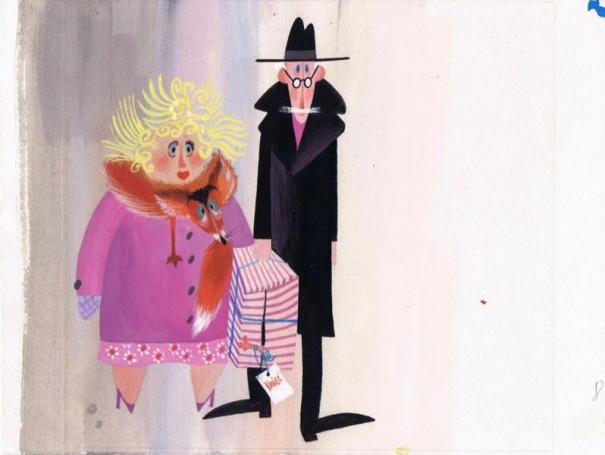 """""""30 lutego"""" ilustracja do książki Wandy Chotomskiej"""