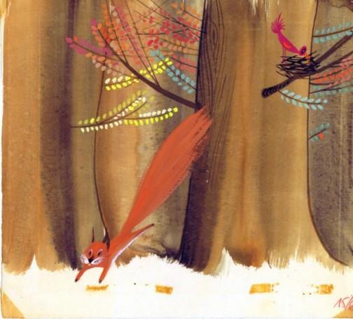 """""""Orzeszek"""",ilustracja do książki Igora Sikiryckiego, 1966 r.,"""