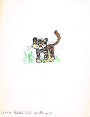 Leopard, illustration for amagazine Lowiec Polski, nr 8, str. 34