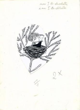 """""""Gdy przebrzmi marsz Mendelssohna"""", ilustracja do książki Zuzanny Celmer """"Dom czy mieszkanie"""""""