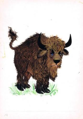 Żubr, ilustracja do książki