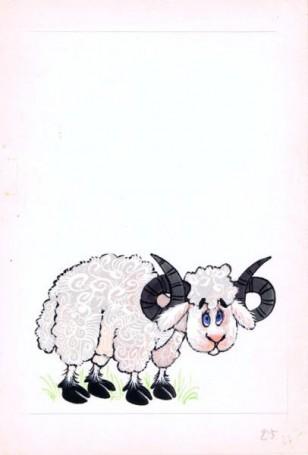 """Baran, """"Zwierzęta Pana Brzechwy"""" -ilustracja"""