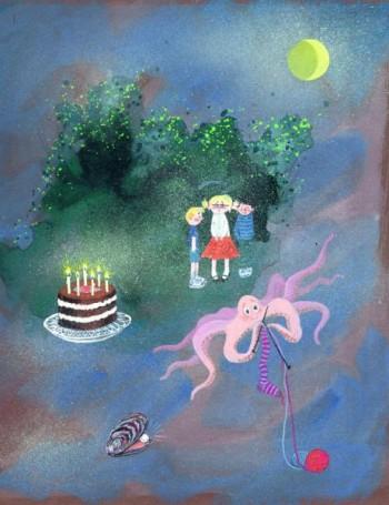 Książka, której się śniło, ilustracja do książki Bogdana Justynowicza