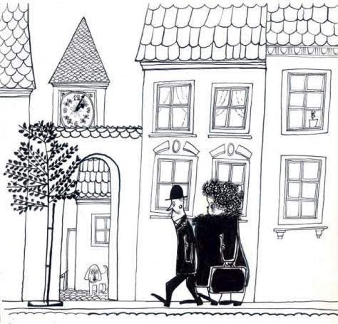 """""""Niewidzialna orkiestra"""", ilustracja do książki Felda Friedricha"""